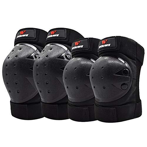 TBATM Motocross Knieschützer + Ellbogenschutz Rollschuh Ski Volleyball Arme Hockey Ski Anti-Fall-Schutzausrüstung 4-TLG