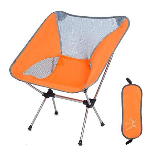 Porta Sonnenliege Folding Angeln ja Terrasse im Freien Lounger Chair gepolsterte Lehnstuhl mit tragbaren Mini Camping Stühlen (Color : Yellow)