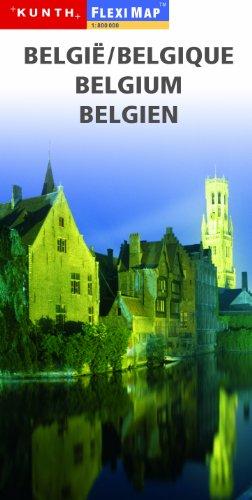 Bélgica y Luxemburgo, 1:300 000 mapa de viajes, laminado, MAGNUM, edición 2011