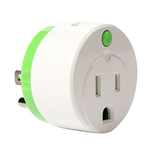NEO Z-Wave Plus Smart Mini Plug Z-Wave Outlet With Timing and Energy Monitoring Home Automation, Work with Wink, SmartThings, Vera, Fibaro & more, Green (1PK)