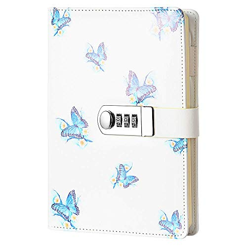Sealei A5 (8.47 X 5.9 Inch) Lock Journal Diary Notebook Combination Locking Journal Diary,Diary with Combination Lock (Style 1)