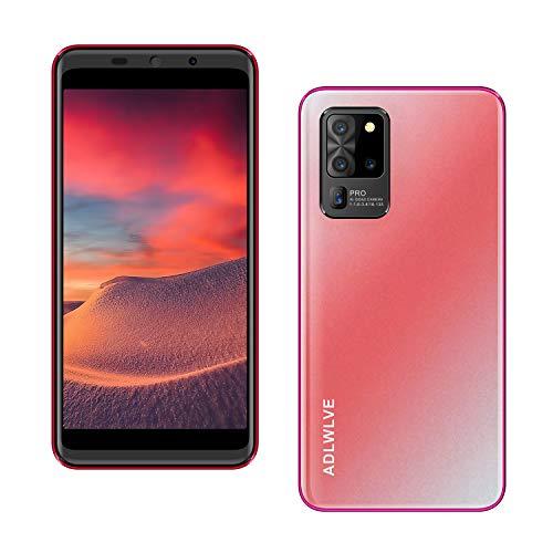 Teléfono Móvil Libres 4G, Android 9.1 Smartphone Libre, 5.5' HD, 2GB + 16GB, Cámara 8MP, Batería 3600mAh, Smartphone Barato Dual SIM, Face ID Moviles Baratos y Buenos (2*SIM+1*SD)-Rosa