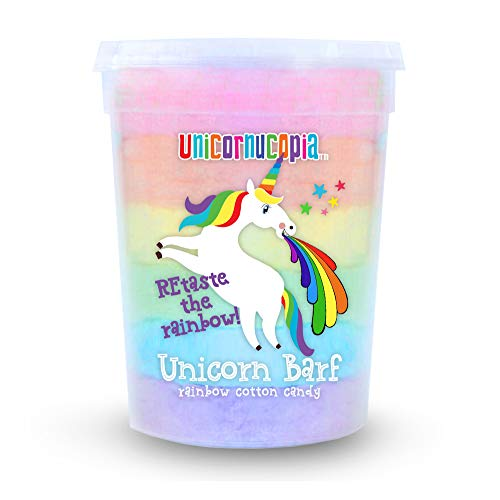 Unicorn Barf Cotton Candy - RAINBOW LAYERS- Unicorn Party Favors Supplies Birthday Treats for Kids & Adults - GAG GIFT (Rainbow, 1 Pack)