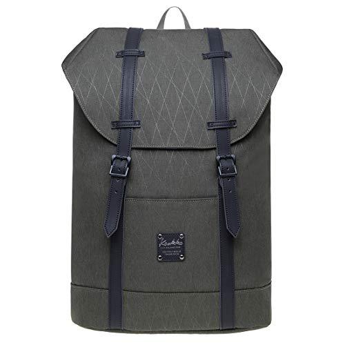 KAUKKO Unisex Rucksack Lässiger Schulrucksack für 12 Zoll Laptop 29 * 15 * 41 cm, 17.8 L (Army grün JNL-EP6-15-08)
