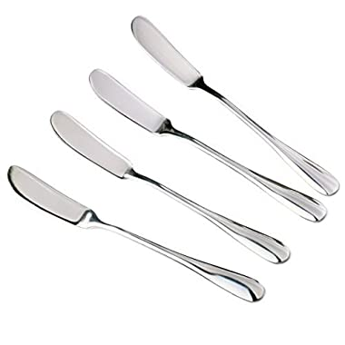 Zelta Stainless Steel Spreaders Silver, Packs of 4