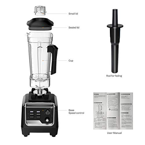 CasaCosa 2200W Professional Blender for Kitchen, Countertop Smoothie Blender Machine with Variable Speed, 2L Tritan Container and 30000 RPM for Home and Commercial