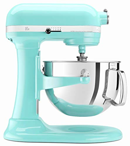 KitchenAid Professional 600 Stand Mixer 6 quart, Ice (Renewed)