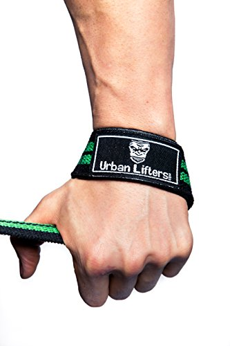 Urban Lifters Weight Lifting Straps, Heavy Duty Padded Straps (Black/Green)
