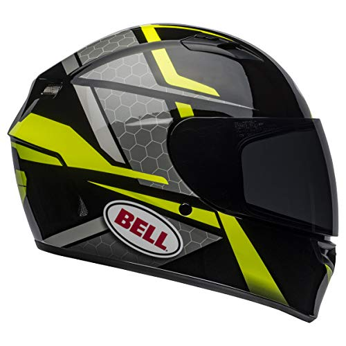 Bell Qualifier Full-Face Motorcycle Helmet (Torque Blue/Yellow, Medium)