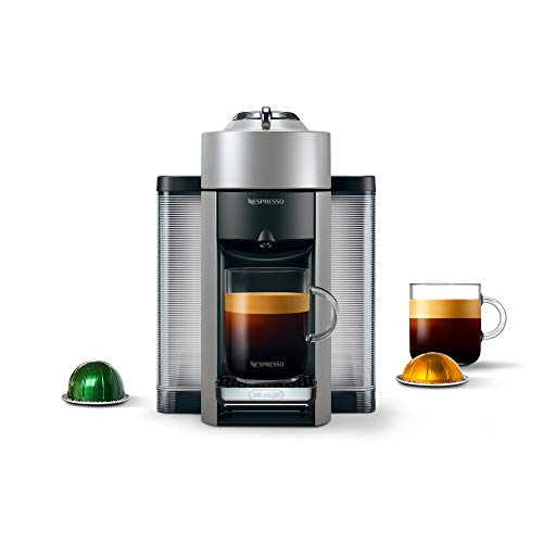 Nespresso Vertuo Evoluo Coffee and Espresso Machine by De'Longhi, Silver Kansas
