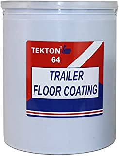 Trailer Floor Coating Protects Trailer Floors, Ramps and Walls (Grey, 1 Gallon)
