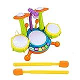 mementoy Juguete educativo de los niños del sistema del tambor del bebé del tambor del piano con 2 palillos