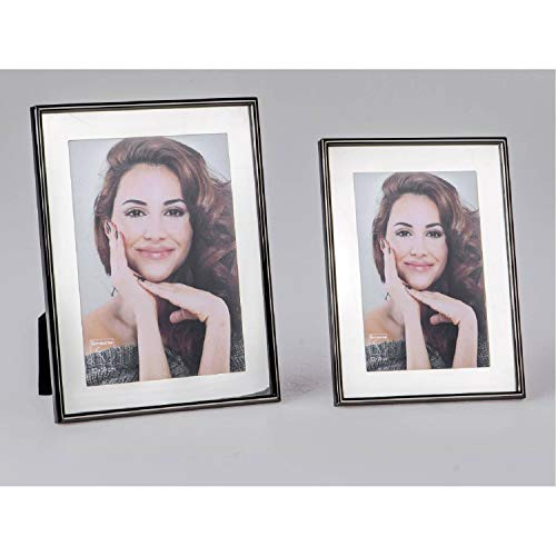 formano Bilderrahmen, Fotorahmen ANTIK Mirror für 10x15cm Silber schwarz WA