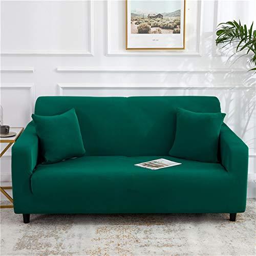 kengbi Funda de sofá duradera y fácil de limpiar, color sólido, para sala de estar, poliéster, moderna, elástica, para sofá de esquina, protector de silla de 1/2/3/4 plazas