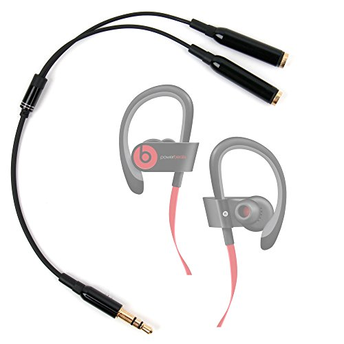 DURAGADGET Práctico Divisor De Auriculares para Beats Power2 | Power3 | Powerbeats2 | Powerbeats3 - Auriculares in-Ear - Entrada De 3.5mm