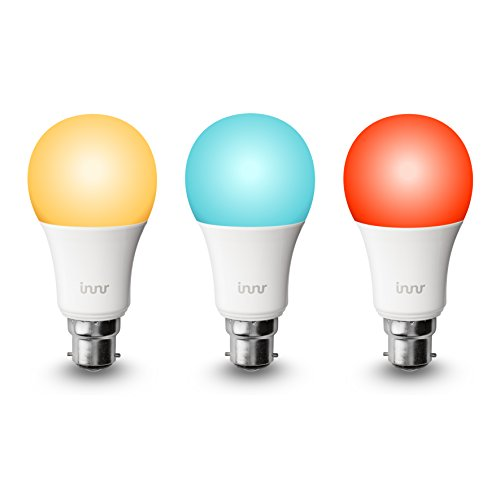 Innr B22 3-pack de Smart RGBW ampoules LED, couleur, à intensité variable (compatible...