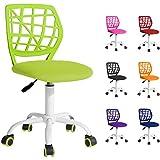 Beltom Sedia ergonomica da scrivania cameretta Computer casa Studio Ufficio Studenti Adolescenti, Ideale per Bambini. Regolabile in Altezza e Girevole a 360° - Verde