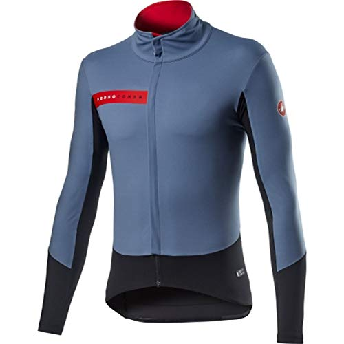 CASTELLI Beta Ros Jacket, Chaqueta deportiva para hombre, Light Steel Blue Black, XL