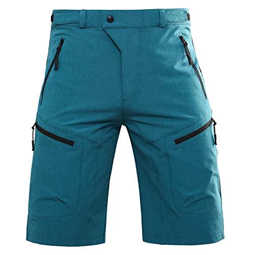 """Mens Hiking Shorts Climbing Shorts with Zipper Pocket (Blue, 2XL (Waist: 36-38"""" Hip: 40.5-42.5""""))"""