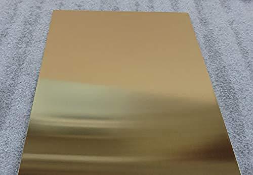 Wanggang H62 Messingplatte Messingblech Messingblock Heimwerkerkupferblech,0.5mm*200mm*300mm