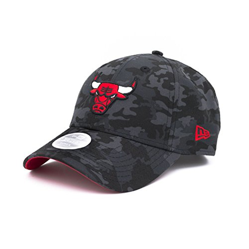 New Era Chicago Bulls Gorra ajustable de camuflaje negro NBA (women's)