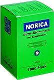 NORICA Büroklammern mit Kugelenden - 32 mm glatt, verzinkt, 1.000 Stück; Packungsinhalt: 1000 Stück