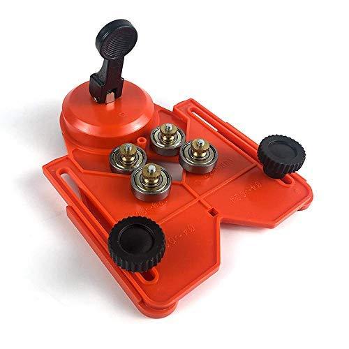 LKK-KK Hole Saw Locator Drill Bit Guide Openings Locators Jig Fixture Adjustable Vacuum Sucker Base Range 1/6 inch - 3 1/4 inch