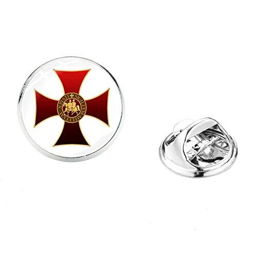 Pin de solapa de Cruz Roja de acero inoxidable masónico masón hombres camisa traje broches pines insignias recuerdo