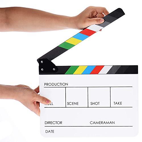 ® Acryl Clap Klappen Filmklappe Film Movie Action Szene Slate 30x 24cm