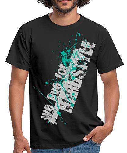 Musik We Live for Hardstyle Männer T-Shirt, L, Schwarz