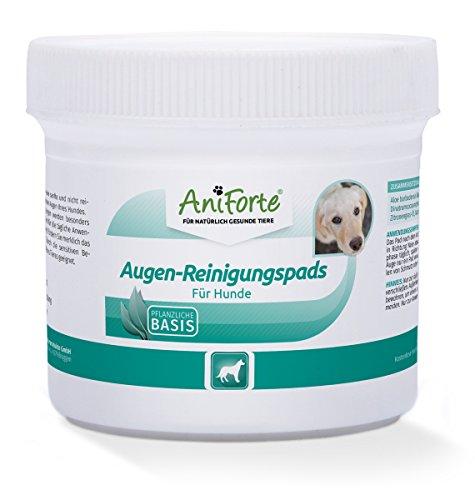 AniForte Augen-Reinigungspads 100 Stück für Hunde - Besonders schonende Reinigungstücher für die Augen-Pflege, Milde Augen-Reinigung ohne zu Reizen, Entfernt sanft Tränenstein und Speichel-Reste