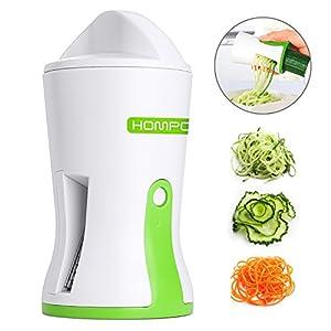 HOMPO - Cortador de verduras en espiral, cortador de pastas y aperitivos, herramientas de cocina