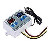 KKmoon デジタルサーモスタット温度コントローラー LED 10Aヒータークーラー 直接出力 温度センサースイッチ デジタル温度調節器 XK-W1010 インキュベーターリレー用