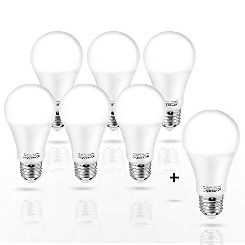 Lampadine LED E27 12W, Luce Bianca Fredda 6400K, 1020 Lumen, Pacco da 7. [Classe di efficienza energetica A+]