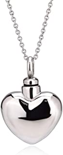 Trendy Stainless Steel Cremation Jewelry Heart Ash Pendant Urn Necklace Memorial Keepsake Jewelry