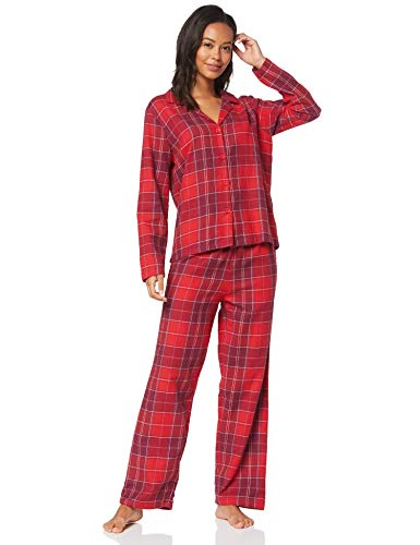 IRIS & LILLY Flannel Pijama, Rojo Red Check), X-Small