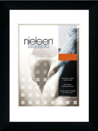 Nielsen Bilderrahmen Alurahmen Profil 215 60x80 cm Eloxal Schwarz matt - Acrylglas