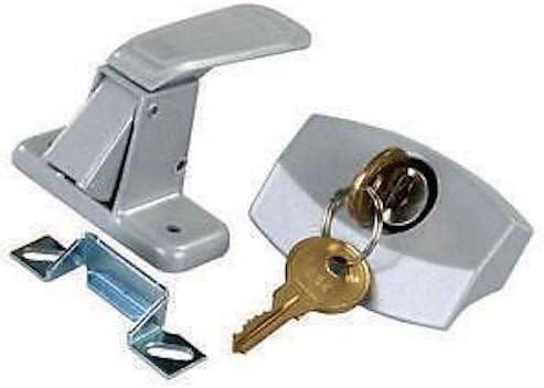CPW tm 5 popular Camper Silver Locking Entry Lock Door Handle National uniform free shipping Pop U Latch