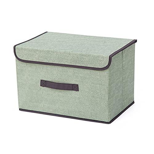 LJHSS Caja de Almacenamiento Premium con Tapa, contenedores de Almacenamiento, Cajas de Almacenamiento Plegables con Tapas Contenedores Organizadores con Asas (Color : 2, Size : 36CM*23CM*24CM)