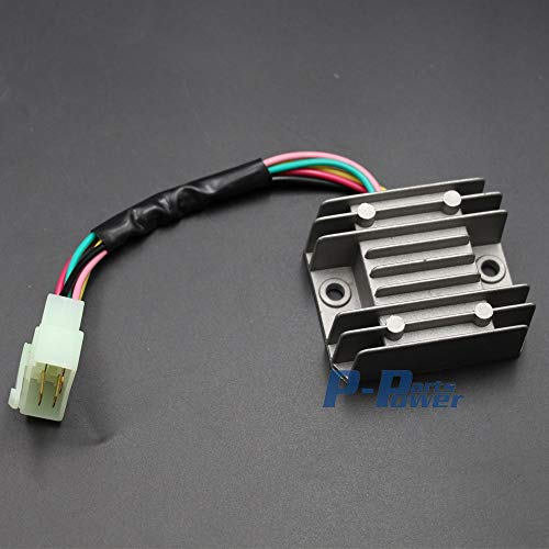 Joyfulstore- Voltage For Regulator Rectifier 5 Wires 5 Pin 12V Gy6 Scooter Atv 50Cc 125Cc 150Cc New (Gray)