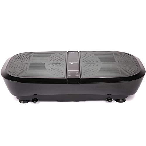 Sportstech 3D Vibration Plate VP300 | Mega Fat Burner + 5 Bandes de Fitness supplémentaires | Vaste Surface + Double Moteur très Silencieux + Bluetooth + Télécommande | Fitness Training at Home