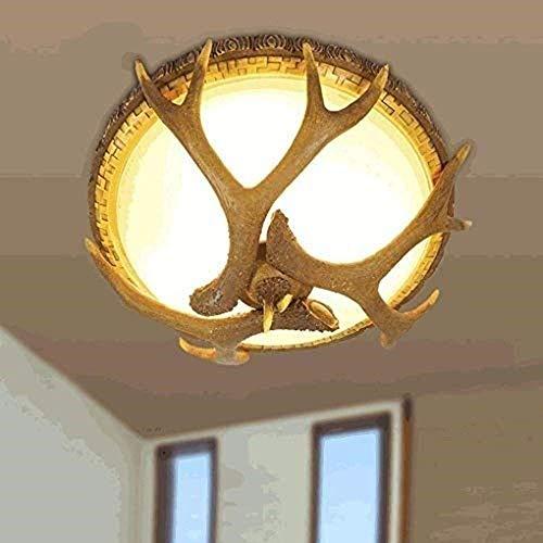 N/Z Equipo para el hogar Moderno Contemporáneo Creativo Pantalla de Cristal de Resina 3 Luces Astas Sala de Estar Redonda Comedor Dormitorio Pasillo Lámpara de Techo Elegante