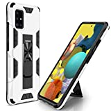 STORM BUY Phone Case for [ Samsung Galaxy A51 4G (Not Fit A51 5G Version) ], Heavy Duty Armor Back Cover with [Shock Absorption] Protection, Kickstand Ring White Case for Samsung A51 6.5-inch-IR
