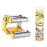 HAOGUO Máquina para Hacer Pasta, máquina Manual para Hacer Pasta de Acero Inoxidable con 7 configuraciones de Grosor Ajustable, lo Mejor para Fideos caseros, Espaguetis, Masa Fresca