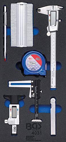 BGS 4031 | Bandeja para carro 1/3: Juego de herramientas de medición | 7 piezas