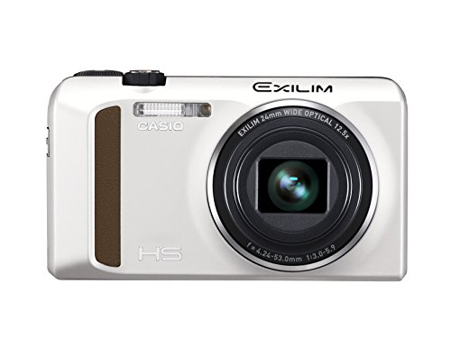 Casio EXILIM EX-ZR400 Digitalkamera (16,1 Megapixel, 7,6 cm (3 Zoll) Display, 25-Fach Multi SR Zoom, Triple Shot, HDR) weiß
