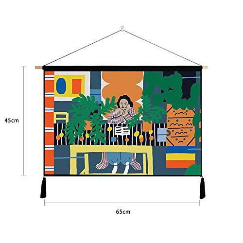 lsaiyy Europäische dekorative Malerei abstrakte Figuren Hintergrund Wandbehang Meter Box Cover Tuch 19 45 * 65cm
