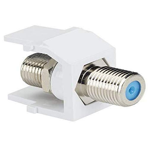Panduit NKFWH 1-Port Coupler Module with F-Coaxial Connector, White
