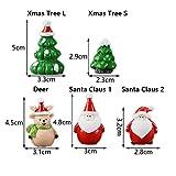 Weihnachtsaccessoire aus Kunstharz, für Puppenhaus, Feengarten, Miniatur-Schneemann, Weihnachtszubehör, Weihnachtsbaum, Weihnachtsmann-Figuren (Schneemann 6) - 2