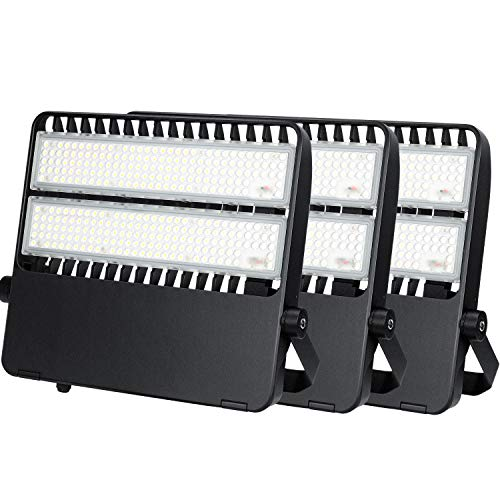 200W Stadium Lights LED 5000K IP65 Waterproof 27000LM LED Spotlight for Backyard Warehouse Playground(3 Pack